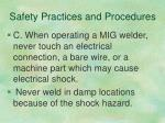 safety practices and procedures2