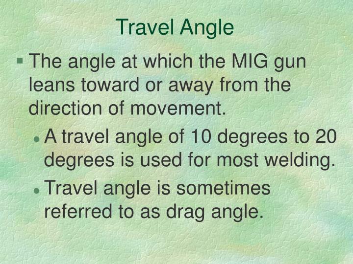 Travel Angle
