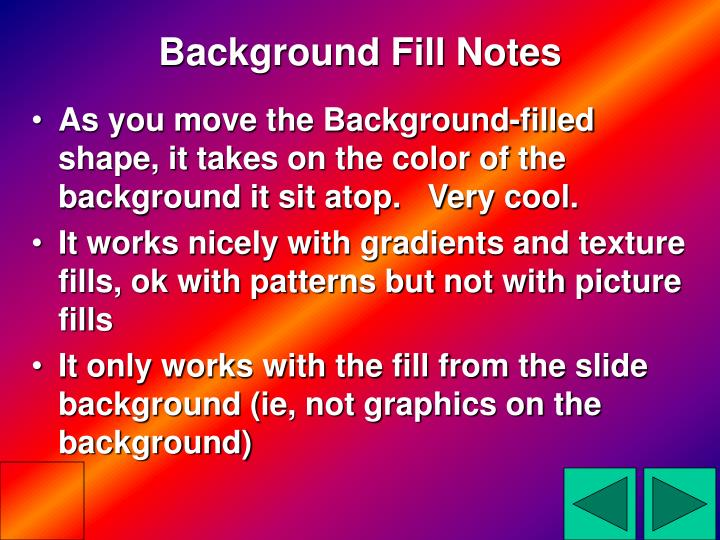 Background Fill Notes