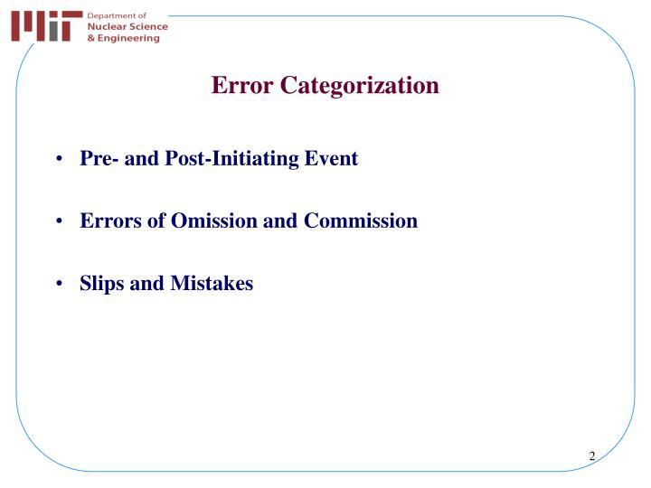 Error Categorization