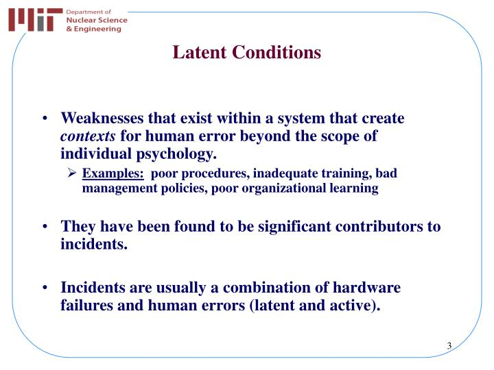 Latent Conditions
