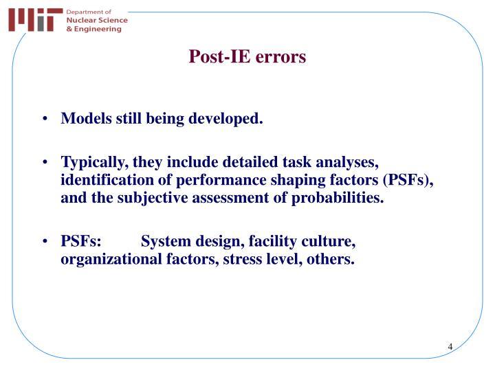 Post-IE errors