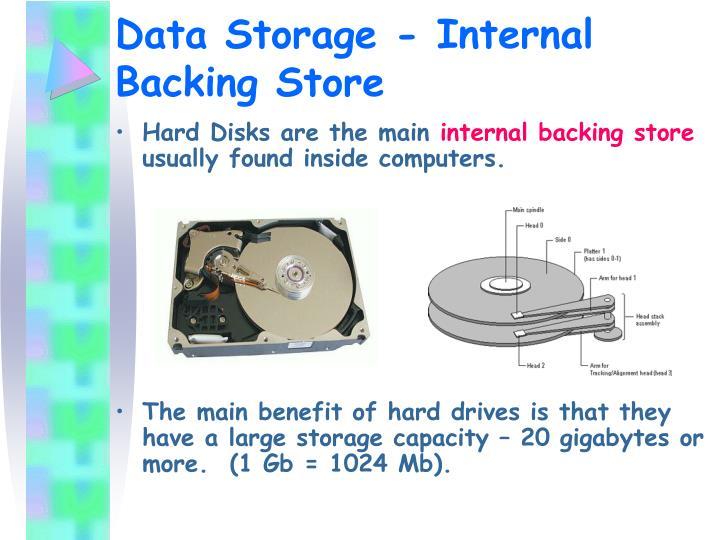 Data Storage - Internal Backing Store