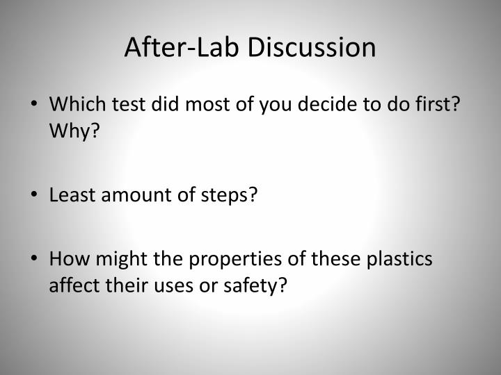 After-Lab Discussion