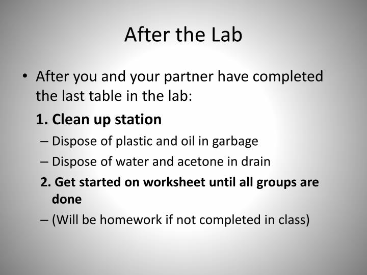 After the Lab