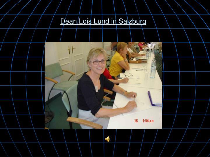 Dean Lois Lund in Salzburg