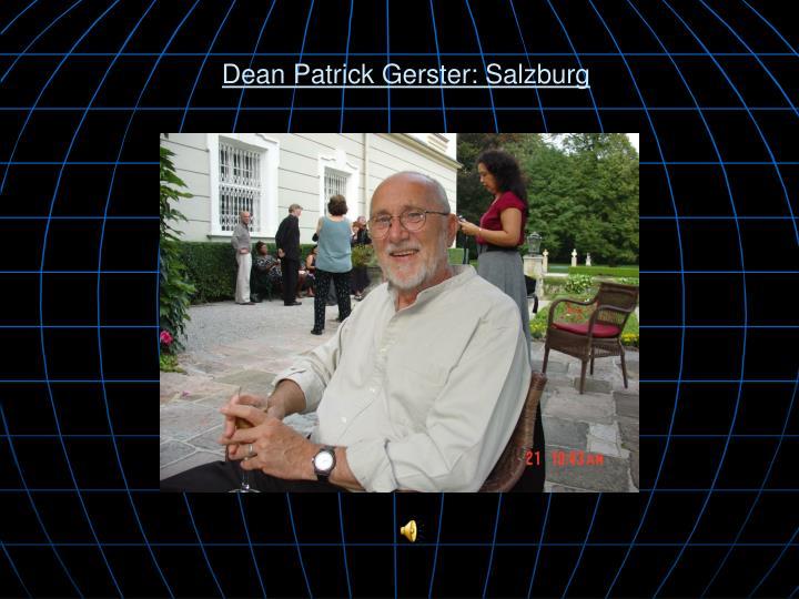 Dean Patrick Gerster: Salzburg