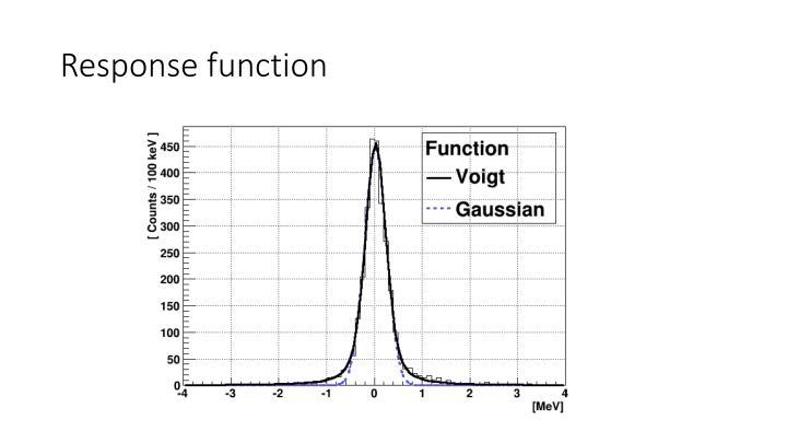 Response function