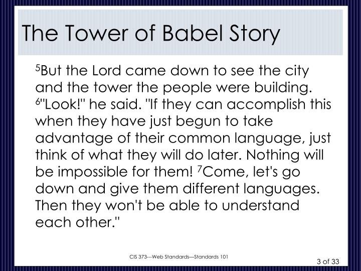 The tower of babel story1