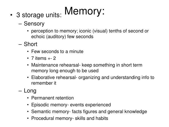 Memory: