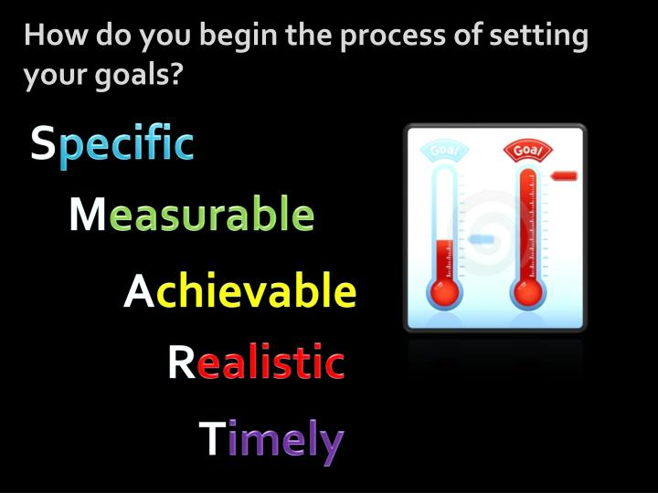 How do you begin the process of setting your goals?