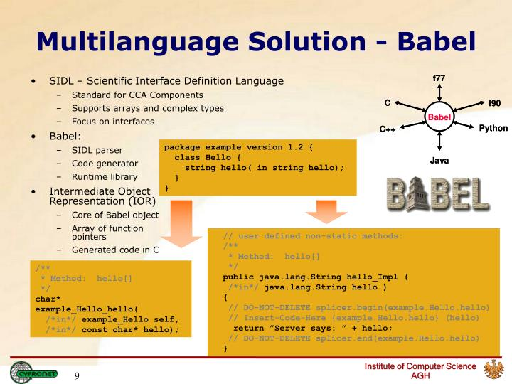 Multilanguage Solution - Babel
