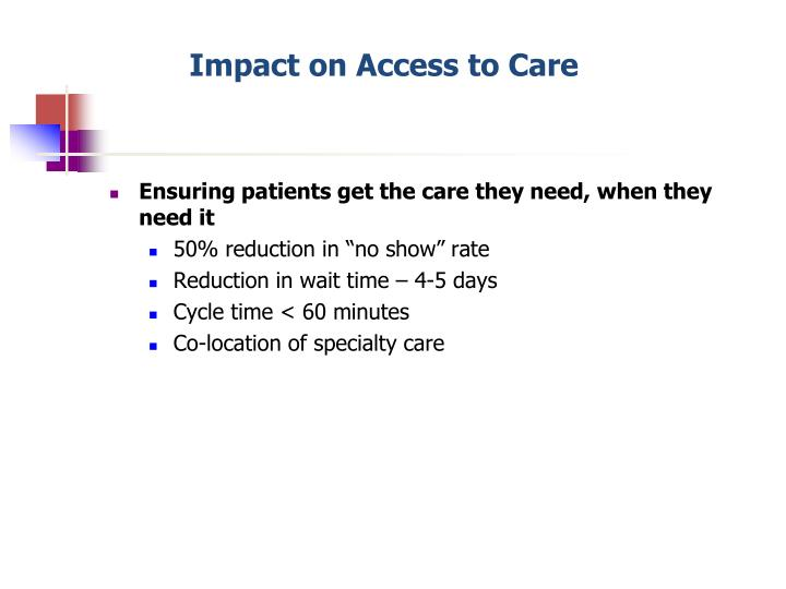Impact on Access to Care