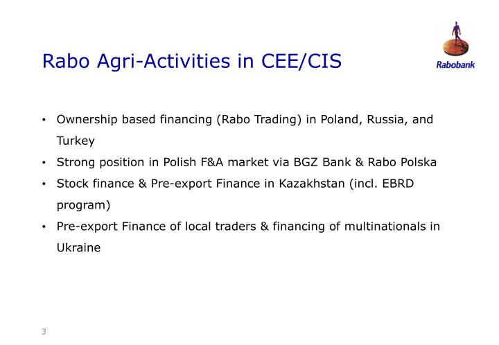 Rabo Agri-Activities in CEE/CIS
