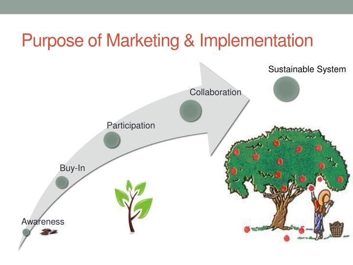 Purpose of Marketing & Implementation