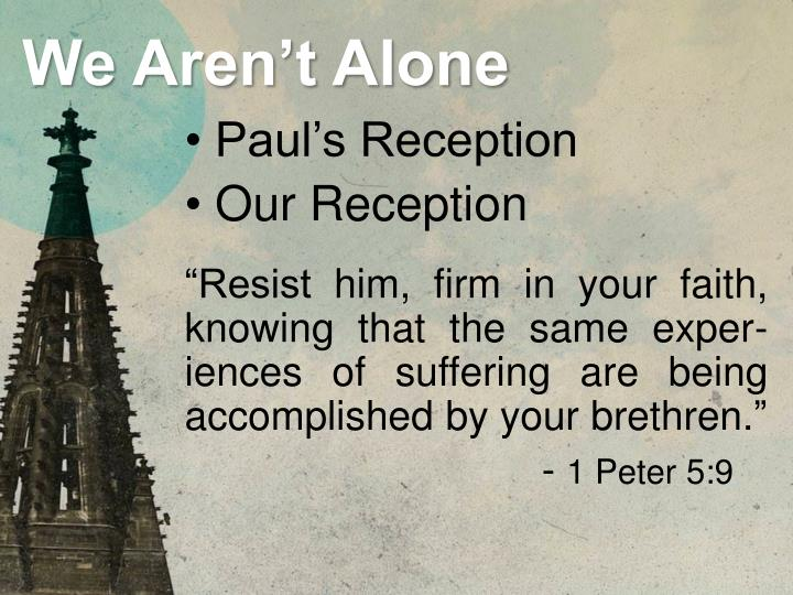 Paul's Reception