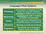 language s rule systems