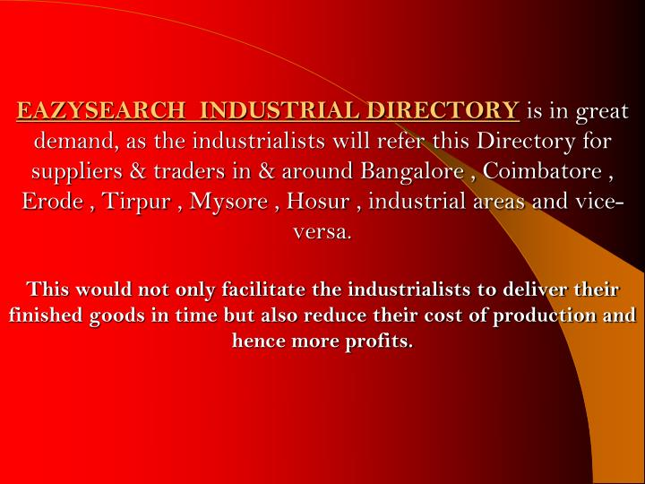 EAZYSEARCH  Industrial Directory