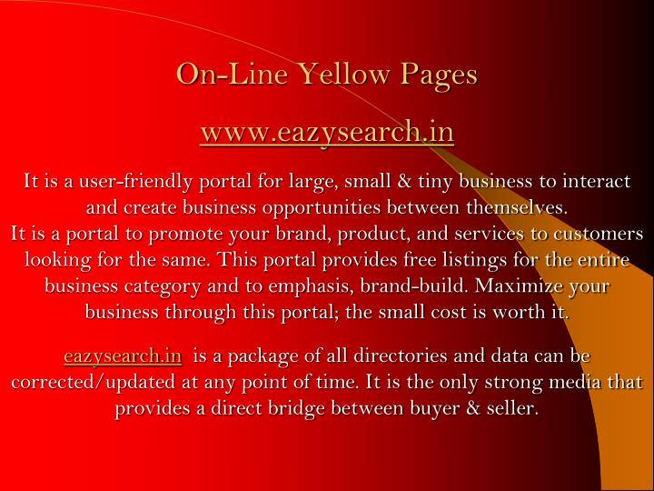 On-Line Yellow Pages