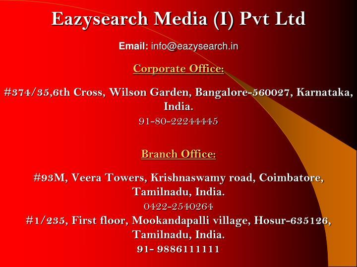 Eazysearch Media (I)