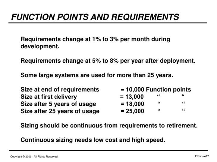 FUNCTION POINTS AND REQUIREMENTS