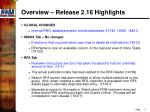 overview release 2 16 highlights