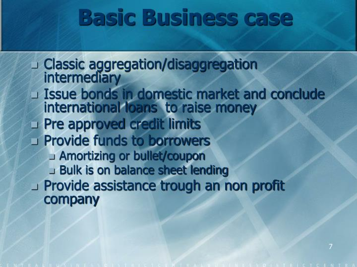 Basic Business case