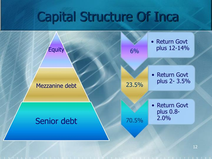 Capital Structure Of Inca