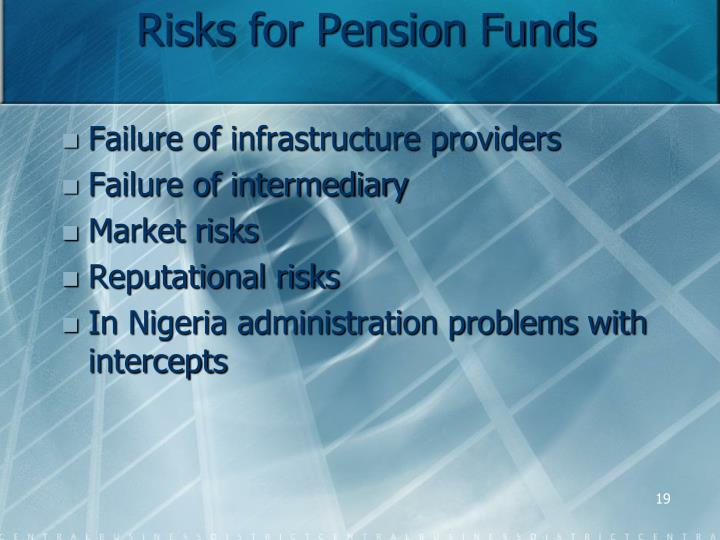 Risks for Pension Funds