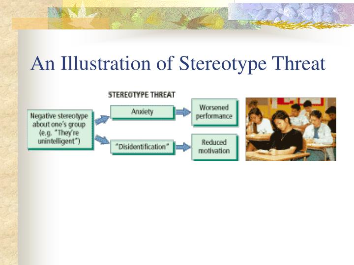 An Illustration of Stereotype Threat