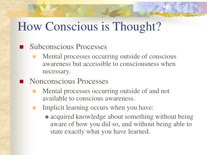 How Conscious is Thought?