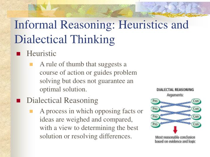Informal Reasoning: Heuristics and Dialectical Thinking