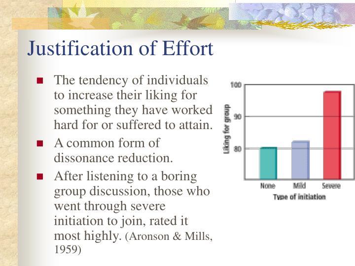 Justification of Effort