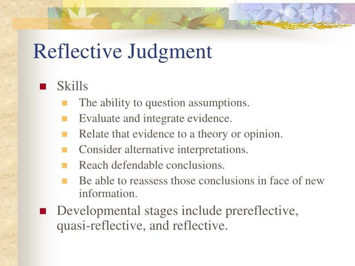 Reflective Judgment
