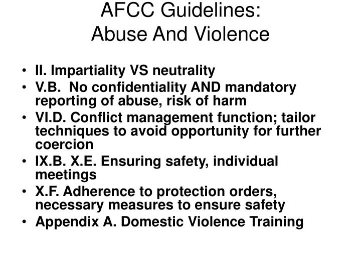 AFCC Guidelines: