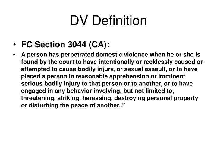 DV Definition