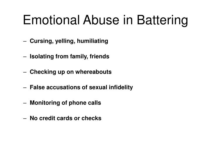 Emotional Abuse in Battering