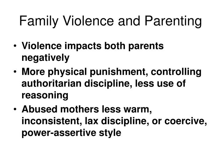 Family Violence and Parenting