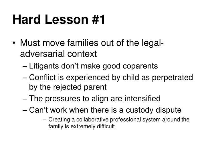Hard Lesson #1