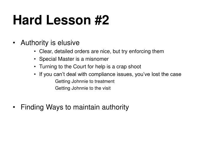 Hard Lesson #2