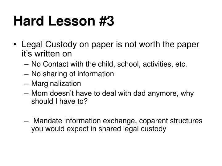 Hard Lesson #3