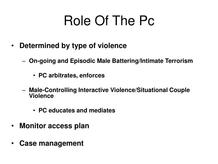 Role Of The Pc