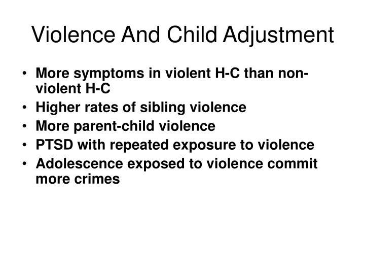 Violence And Child Adjustment