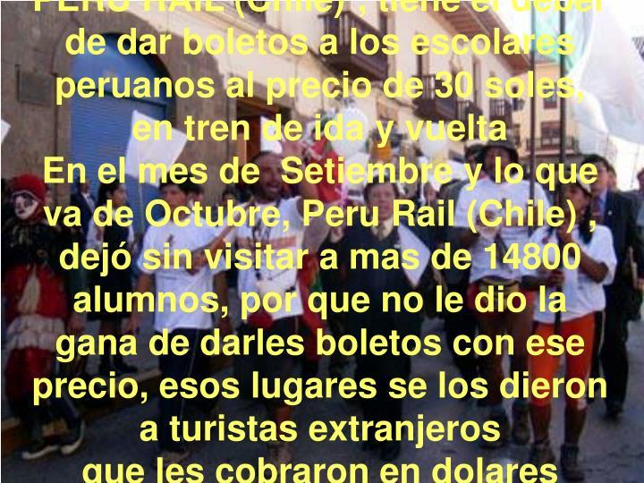 PERU RAIL (Chile)