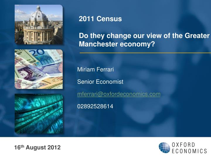 2011 census do they change our view of the greater manchester economy