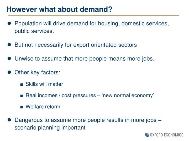 However what about demand?