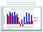 how much of our economic growth is attributable to the housing bubble