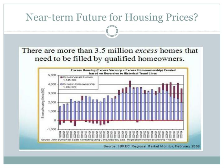Near-term Future for Housing Prices?