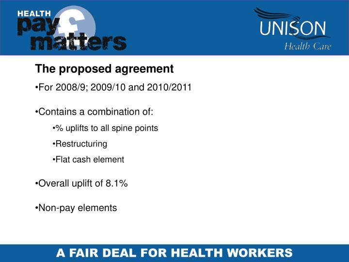 The proposed agreement