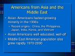 americans from asia and the middle east